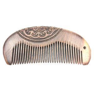 Hair/Beard Comb Engraved Sandalwood NIB